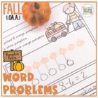 Math Problem Solving for Fall (First Grade 1.OA.1)