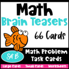 Math Problems and Math Brain Teasers Cards Set B