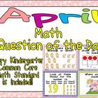 Math Question of the Day- Kindergarten Common Core for April