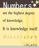 Math Quote by Plato Posters : Numbers