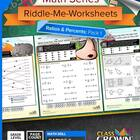 Math Ratios and Percents Worksheets - Math Riddles - 4th–7
