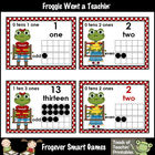"Math Resource -- ""Hoppy"" School Froggies Number Wall Heade"