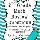 Math Review Question Cards for Common Core {251 Cards Included}