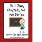 Math Rings, Flashcards, and Mini Posters
