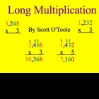Math Smartboard Lessons Multiplication 4 digits x 1 digit