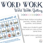 Math + Spelling= How Much is Your Word Worth? #2 {Coins &