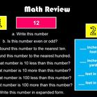 Math Spiral Review 3rd grade week 1