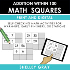 Math Squares: great for mental math practice