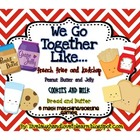 Math Station Games Common Core--Peanut Butter & Jelly, Fre