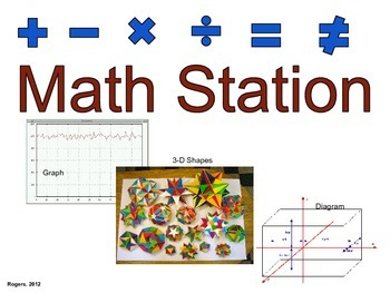 Literacy Center Sign: Math Station