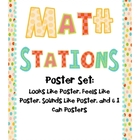 Math Stations Posters Set