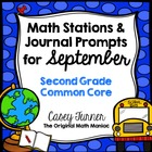 Math Stations and Journal Prompts for September: Second Gr