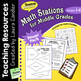 Math Stations for Grades 3 - 8