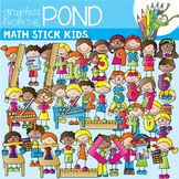 Math Stick Kids - Clipart for Teaching