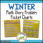 Math Story Problem Pocket Charts ~ for WINTER