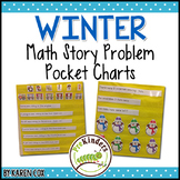 Math Story Problem Pocket Charts: WINTER Edition
