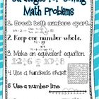 Math Strategies Anchor Chart- Higher Level