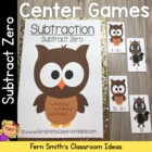Math Subtraction Center Game ~ Subtract Zero Concept (Minus 0)