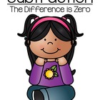 Math Subtraction Center Game ~ The Difference is Zero Concept!