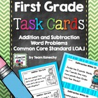 Math Task Cards for First Graders (Common Core Aligned 1.OA.1)