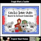 Math Teacher Resource--Koalas Down Under Back to School Calendar