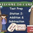 Math Test Prep - Station 2: Add & Subtract - Multiple Choi