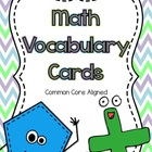 Math Vocabulary Cards- Common Core Aligned for 2nd Grade