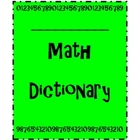 Math Vocabulary Dictionary