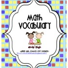 Math Vocabulary Journal Graphic Organizers