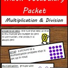 Math Vocabulary Packet - Multiplication & Division