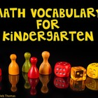 Math Vocabulary Posters for Kindergarten