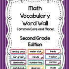 Math Vocabulary Word Wall~ Common Core~Grade 2