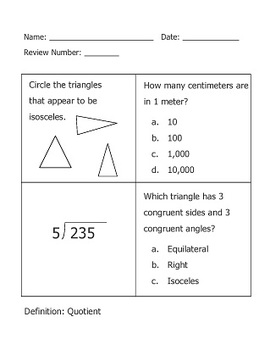 Halloween Math Worksheets Grade 4 http://www.teacherspayteachers.com/Product/Math-Warmups-Review-Worksheets-4th-Grade-100-WORKSHEETS-350-Problems-321017