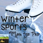 "Math ""Winter Sports"" Test Prep Stations"