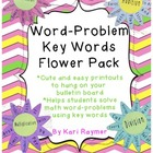 Math Word Problem Key Words (Flower Theme)