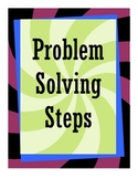 Math Word Problem / Problem Solving Steps Poster