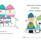 Math Word Problems: Celebrating Winter Holidays Booklet