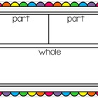 Math Work Mat~ Part Part Whole {Freebie}