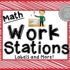Math Work Station Labels