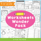 Worksheets - Worksheets Wonder Pack