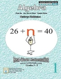 Math Worksheets for 3rd, 4th, 5th Grade - Algebra