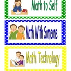 Math Workshop Headers