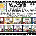 Math Workshop {THE BUNDLE} September- June