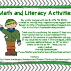 "Math and Literacy Activities for Jan Brett's ""The Mitten"""