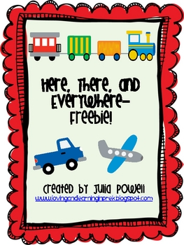 Math and Literacy Transportation Themed Freebie!