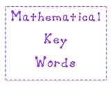 Mathematical Word Problem Key Words