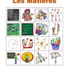 Matieres (School subjects in French) Bingo game