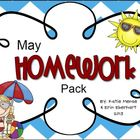 May Homework Pack for Kindergarten