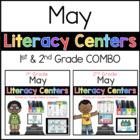 May Literacy Centers 1st 2nd COMBO