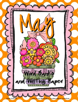 May-Themed Word Banks and Writing Paper